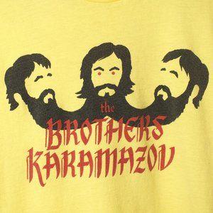 Brothers Karamazov Yellow Graphic Tee Shirt Small